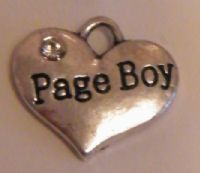 Page Boy Personalised Wine Glass Charm - Full Bead Style
